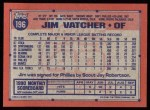 1991 Topps #196   Jim Vatcher Back Thumbnail