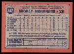 1991 Topps #342  Mickey Morandini  Back Thumbnail