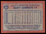 1991 Topps #361  Scott Garrelts  Back Thumbnail