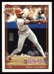 1991 Topps #160   Vince Coleman Front Thumbnail