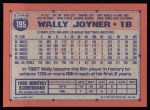 1991 Topps #195  Wally Joyner  Back Thumbnail