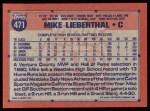 1991 Topps #471   Mike Lieberthal Back Thumbnail