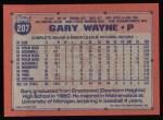 1991 Topps #207  Gary Wayne  Back Thumbnail