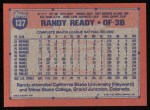 1991 Topps #137   Randy Ready Back Thumbnail