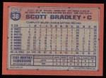 1991 Topps #38  Scott Bradley  Back Thumbnail
