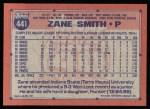 1991 Topps #441  Zane Smith  Back Thumbnail