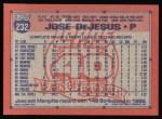 1991 Topps #232  Jose DeJesus  Back Thumbnail