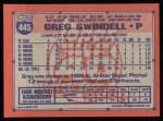 1991 Topps #445   Greg Swindell Back Thumbnail