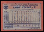 1991 Topps #473   Curt Young Back Thumbnail