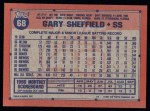 1991 Topps #68   Gary Sheffield Back Thumbnail