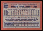 1991 Topps #264   Dave Hollins Back Thumbnail