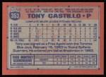 1991 Topps #353  Tony Castillo  Back Thumbnail