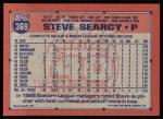 1991 Topps #369  Steve Searcy  Back Thumbnail