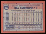 1991 Topps #452  Bill Schroeder  Back Thumbnail
