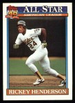 1991 Topps #391   -  Rickey Henderson All-Star Front Thumbnail