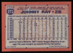 1991 Topps #273   Johnny Ray Back Thumbnail