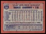 1991 Topps #32  Mike Simms  Back Thumbnail