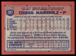 1991 Topps #197   Chris Nabholz Back Thumbnail