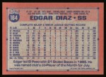 1991 Topps #164   Edgar Diaz Back Thumbnail