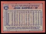 1991 Topps #85  Jesse Barfield  Back Thumbnail