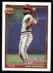 1991 Topps #343  Jose Oquendo  Front Thumbnail