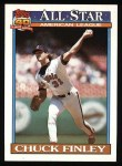 1991 Topps #395  All-Star  -  Chuck Finley Front Thumbnail