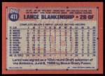 1991 Topps #411  Lance Blankenship  Back Thumbnail