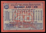 1991 Topps #297   Manny Lee Back Thumbnail