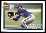 1991 Topps #297   Manny Lee Front Thumbnail