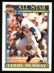 1991 Topps #397  All-Star  -  Eddie Murray Front Thumbnail
