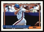 1992 Topps #111  Mark Carreon  Front Thumbnail