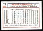 1992 Topps #79  Jesse Orosco  Back Thumbnail