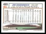 1992 Topps #469  Jim Eisenreich  Back Thumbnail