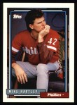 1992 Topps #484   Mike Hartley Front Thumbnail