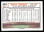 1992 Topps #463   Mike Simms Back Thumbnail