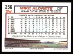 1992 Topps #256  Mike Aldrete  Back Thumbnail
