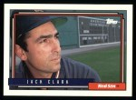 1992 Topps #207  Jack Clark  Front Thumbnail