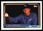 1992 Topps #75  Bret Saberhagen  Front Thumbnail