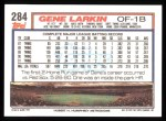 1992 Topps #284  Gene Larkin  Back Thumbnail