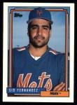 1992 Topps #382   Sid Fernandez Front Thumbnail