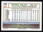 1992 Topps #187  Ernie Riles  Back Thumbnail
