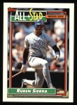1992 Topps #403   -  Ruben Sierra All-Star Front Thumbnail