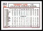 1992 Topps #262   Terry Lee Back Thumbnail