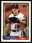 1992 Topps #338  Shawn Abner  Front Thumbnail