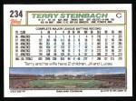 1992 Topps #234   Terry Steinbach Back Thumbnail