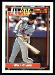 1992 Topps #386  All-Star  -  Will Clark Front Thumbnail