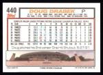 1992 Topps #440   Doug Drabek Back Thumbnail