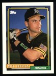 1992 Topps #317  Mike Bordick  Front Thumbnail