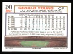 1992 Topps #241   Gerald Young Back Thumbnail