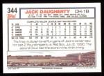 1992 Topps #344  Jack Daugherty  Back Thumbnail